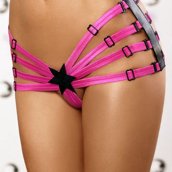 Star Strappy Panty Pink