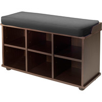 Walmart: Winsome Townsend Bench with Black Cushion Seat, Expresso