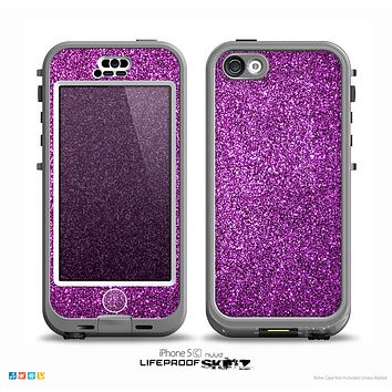 The Purple Glitter Ultra Metallic Skin for the iPhone 5c nüüd LifeProof Case
