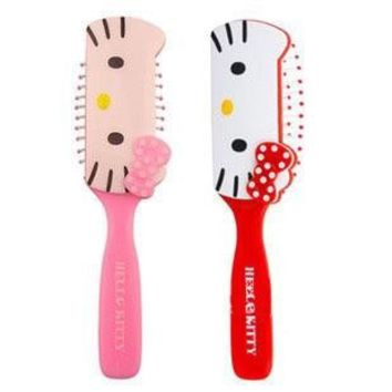 Wood Detangling Comb Massager Hello kitty Portable Massage Comb Makeup Cosmetic Styling