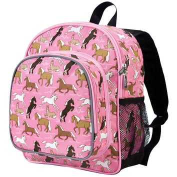 Horses in Pink Pack 'n Snack Backpack - 40020