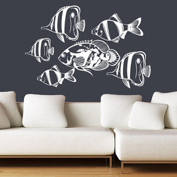 Shop water wall design on wanelo for Koi wall decal
