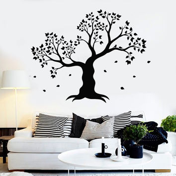 Vinyl Wall Decal Tree Leaves House Interior Room Decoration Stickers Unique Gift (ig4361)