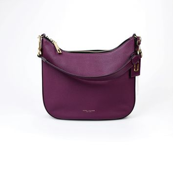 Marc Jacobs Gotham City Purple Leather Hobo Bag
