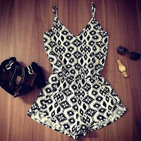 Women V Neck Playsuit Bodycon Party Jumpsuit Romper Clubwear