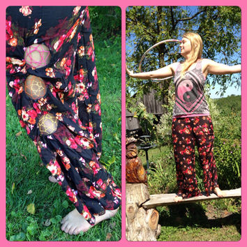 Floral Dreamcatcher flow pants size medium