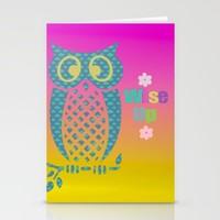 Wise Up Stationery Cards by Macsnapshot