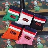 GUCCI Cotton socks with Gucci game patch - Boxed