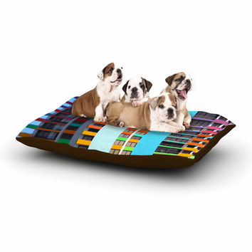 "Philip Brown ""The Rainbow Building"" Multicolor Modern Dog Bed"