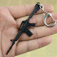 JS Cross Fire AK47 Gun Keychain Cool CSGO Key Chain AK 47 Keyring Metal M4A1 Porte Clef Alloy Key Chain Men Chaveiro MK015