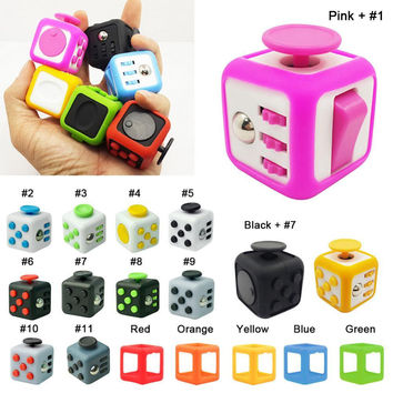 Size 3.3*3.3cm Fidget Cube Toy A Viny Desk Spin  Anti irritability Magic Cobe Anti-stress Fidget Toys Gifts For ADHD Children