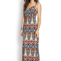 Abstract Cutout Maxi Dress