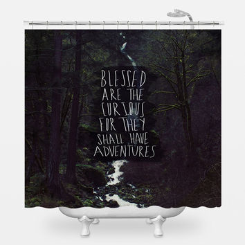 Curious Adventures Shower Curtain