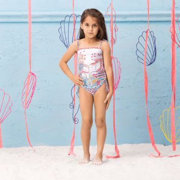 Ondademar Girls Tadan Embellished One Piece