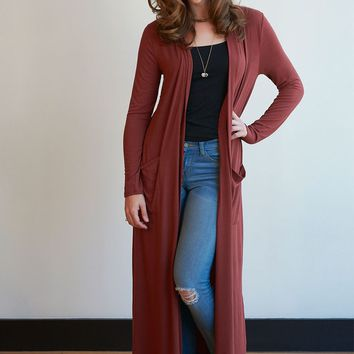 Slouchy Duster Length Pocket Cardigan - 7 Colors!