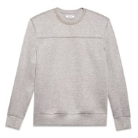 HELMUT LANG SPONGE FLEECE HEATHER SWEATSHIRT