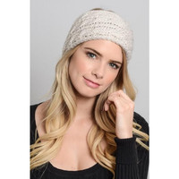 Knit Winter Headband - Ivory
