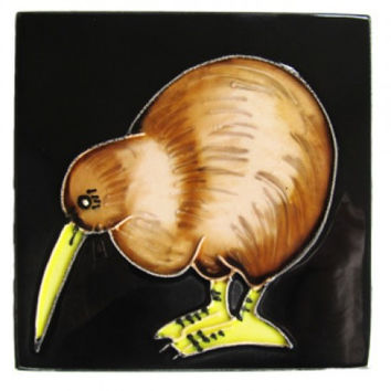 Kiwi Ceramic Art Tile Coasters