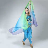 Belly Dancing Costumes cChiffon Yarn Scarf Solid Belly Dance Veils Stage Performance Props SM6
