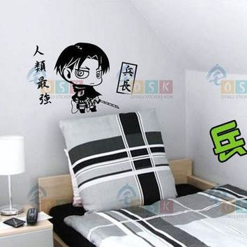 Cool Attack on Titan DCTAL Japanese Cartoon Fans  Rival Ackerman Vinyl Wall Stickers Decal Decor Home Decorative Decoration 181 AT_90_11
