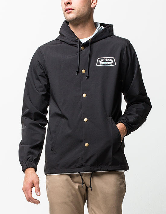 f85276a0b Captain Fin The Dish Mens Coach Jacket Black In Sizes