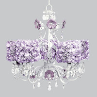 Blossom Chandelier in Lavender with Choice of Shade