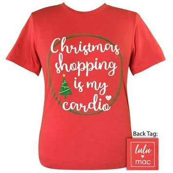 Girlie Girl Originals Lulu Mac Preppy Christmas Shopping My Cardio T-Shirt