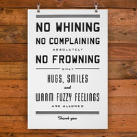 HAMMERPRESS | No Whining Art Print (Large)