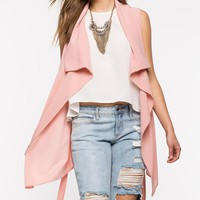 Sandy Sleeveless Trench Coat