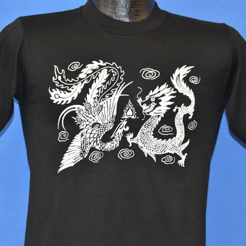 80s White Fire Breathing Dragons t-shirt Large