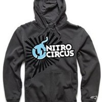 Alpinestars Nitro Circus Stacked Zip Hoody Grey L/Large