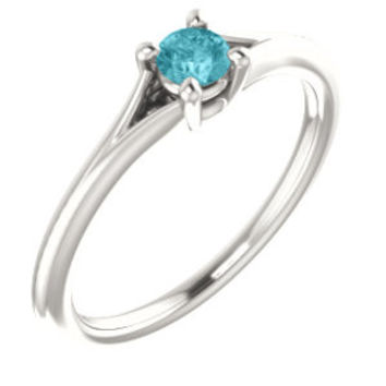 Sterling Silver Tourmaline Youth Ring