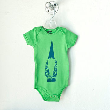 Tomte, Infant gnome one piece, grass green, size 18-24 mo