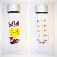 Motivation Water Bottle * 32oz water bottle * Personalized Water Bottle * BPA free * Birthday Gift * Glitter dipped Water bottle