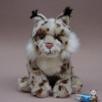 Eurasian Lynx Stuffed Animal Plush Toy 9""