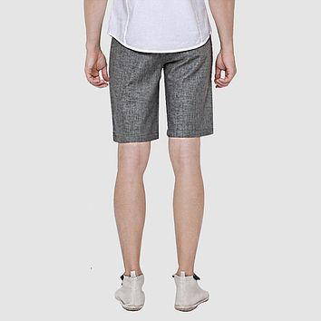 Summer Linen Men Shorts Business Style Male Casual Knee length Thin Shorts para hombres