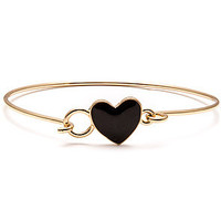MKL Accessories Bracelet Captain Heart in Black