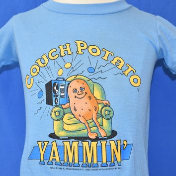 80s Couch Potato Yammin Funny t-shirt Youth 4