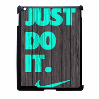 Nike Just Do It Wood Colored Darkwood Wooden Fdl iPad 4 Case