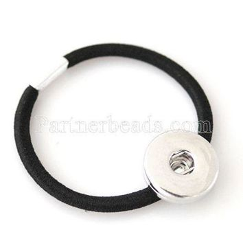 LMFCI7 10pcs/lot hair accessories with one button Fit 18/20mm snap charms KB0512