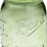 Ball Heritage Collection Pint Jars with Lids and Bands, Green, Set of 6
