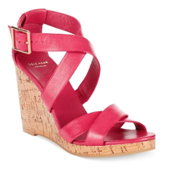 COLE HAAN Jillian Open Toe Platform Wedge Sandals