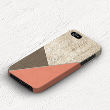 Coral iPhone 5s case Brown iPhone 5c case Peach iPhone 4 case Simple iPhone 4s case Wood print iPhone 5 case Christmas gift c282