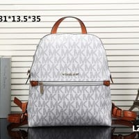 """Michael Kors"" Casual Fashion Classic Letter Print Backpack MK Unisex Double Shoulder Bag"