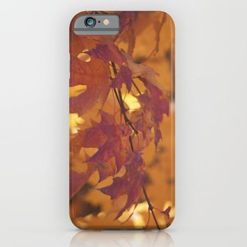 Autumn leaves iPhone & iPod Case by Angela King-Jones