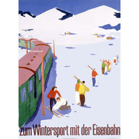 Eisenbahn Winter Sports Snow Ski Wood Sign