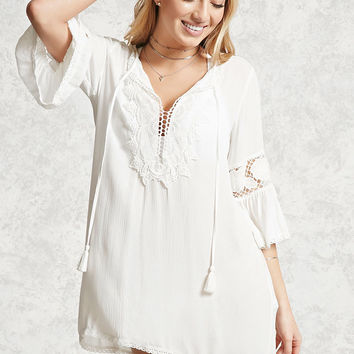 Crochet Lace Cover-Up Kaftan