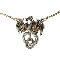 LOVEsick Chained Dragon Necklace