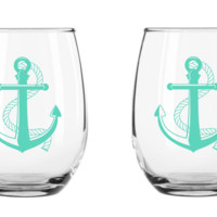 Set of 2 Anchor Glasses