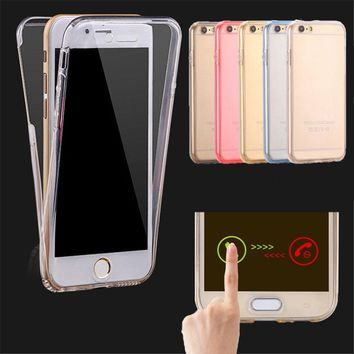 Clear TPU Silicone Flexible Soft Cover Case For Apple iPhone X 6 6s 7 8 Plus / 5S SE Full Protect Phone Case for Samsung Series